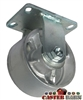 "6"" x 3"" Kingpinless Rigid Caster - Semi Steel Wheel - 2,500 Lbs Capacity"