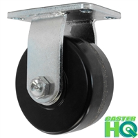 "6"" x 2-1/2"" Rigid Caster - Phenolic Wheel - 1,600 Lbs Capacity"
