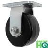 "6"" x 3"" Rigid Caster - Phenolic Wheel - 2,000 Lbs Capacity"