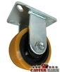 "12"" x 3"" Kingpinless Rigid Caster - Poly Wheel - 6,000 Lbs Capacity"
