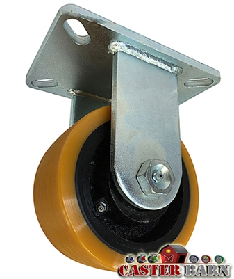 "10"" x 3"" Kingpinless Rigid Caster - Poly Wheel - 6,000 Lbs Capacity"