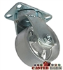 "6"" x 3"" Kingpinless Swivel Caster - Semi Steel Wheel - 2,500 Lbs Capacity"