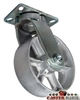 "8"" x 3"" Kingpinless Swivel Caster - Gray Iron - 2,500 Lbs Capacity"