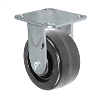 "6"" X 2""  Inch Rigid Caster - Phenolic Wheel - 1,250 Lbs Capacity,"