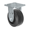 "5"" x 2"" Inch Rigid Caster - Mold-On Rubber Wheel - 400 Lbs Capacity,"