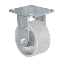 "4"" x 2"" Inch Rigid Caster - Semi-Steel Cast Iron Wheel - 700 Lbs Capacity"