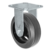 "6"" x 2"" Inch Rigid Caster - Mold-On Rubber Wheel - 550 Lbs Capacity,"