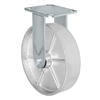"8"" x 2"" Inch Rigid Caster - Semi-Steel Cast Iron Wheel - 1,250 Lbs Capacity"