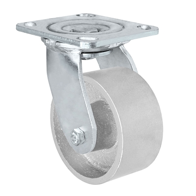 "4"" x 2"" Inch Swivel Caster - Semi-Steel Cast Iron Wheel - 700 Lbs Capacity"