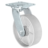 "8"" x 2"" Inch Swivel Caster - Semi-Steel Cast Iron Wheel - 1,250 Lbs Capacity"