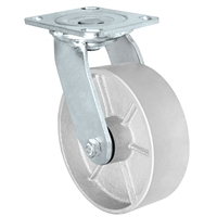 "5"" x 2"" Inch Swivel Caster - Semi-Steel Cast Iron Wheel - 1,000 Lbs Capacity"