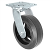 "6"" x 2"" Inch Swivel Caster - Mold-On Rubber Wheel - 550 Lbs Capacity"