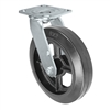 "8"" x 2"" Inch Swivel Caster - Mold-On Rubber Wheel - 600 Lbs Capacity"