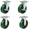 "4"" X 2"" Tool Box Kit - Green Polyurethane Wheel - 3,200 Lbs Capacity Per Set of 4"