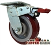"5"" X 2"" Inch Total Lock Caster - Poly on Iron Wheel - 750 Lbs Capacity"
