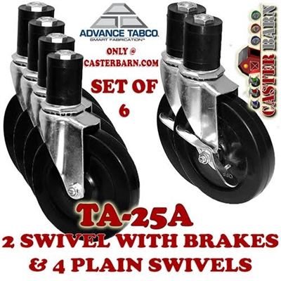 Advance Tabco TA-25A Caster Set