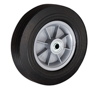 "10"" x 2-3/4"" - 3-1/4"" Centered Hub Flat Free Hand Truck Wheel - 650 lb Cap"