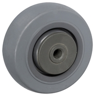 "3"" X 1-1/4"" GRAY THERMO RUBBER (NON MARKING) WHEEL - 210 LBS CAPACITY"