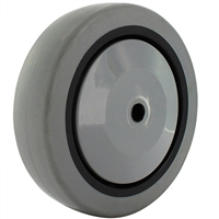 "4"" X 1-1/4"" GRAY THERMO RUBBER (NON MARKING) WHEEL - 250 LBS CAPACITY"