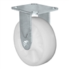 "MEDIUM DUTY 8""X 2"" WHITE NYLON WHEEL - RIGID CASTER 1,100lbs Capacity"