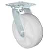 "MEDIUM DUTY 4""X 2"" WHITE NYLON WHEEL - SWIVEL CASTER 800lbs Capacity"