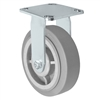 "6"" x 2"" Stainless Rigid Caster - Thermo Plastic Rubber Wheel - 450 lbs Cap"