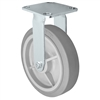 "8"" x 2"" Stainless Rigid Caster - Thermo Plastic Rubber Wheel - 450 lbs Cap"