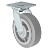 "6"" x 2"" Stainless Swivel Caster - Thermo Plastic Rubber Wheel - 450 lbs Cap"