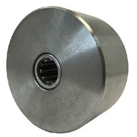 "4"" x 2"" Machined Steel Wheel - 2,500 LBS Capacity - Temp Range 1,300F"