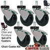 "2"" Chair Caster SET OF 5"