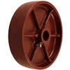 "8"" X 2"" Red Ductile Steel Wheel"