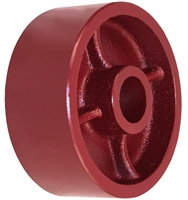 "5"" X 2"" Red Ductile Steel Wheel"