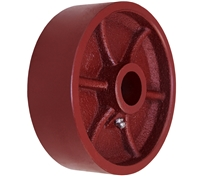 "6"" X 2"" Red Ductile Steel Wheel"