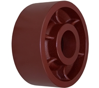 "6"" X 2-1/2"" Red Ductile Steel Wheel"