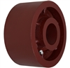 "6"" X 3"" Red Ductile Steel Wheel"
