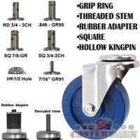 "4"" Solid Polyurethane Stainless Steel Swivel Caster"