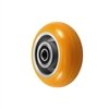 "5"" x 2"" Orange Crown Tread Polyurethane on Aluminum Core - 900 lbs Cap"