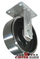 "10"" x 3"" Kingpinless Rigid Caster - Forged Steel Wheel - 10,000 Lbs Capacity"
