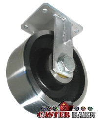 "10"" x 4"" Kingpinless Rigid Caster - Forged Steel Wheel - 18,000 Lbs Capacity"