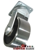 "10"" x 4"" Kingpinless Swivel Caster - Forged Steel Wheel - 18,000 Lbs Capacity"