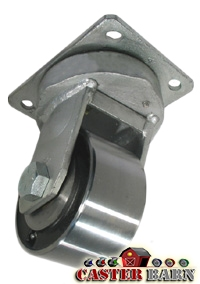 "6"" x 3"" Kingpinless Swivel Caster - Forged Steel Wheel - 10,000 Lbs Capacity"