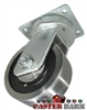 "8"" x 4"" Kingpinless Swivel Caster - Forged Steel Wheel - 18,000 Lbs Capacity"