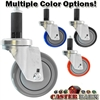 "3-1/2"" X 1-1/4"" Wheel, Expandable Adaptor Caster - 300 Lbs Capacity"