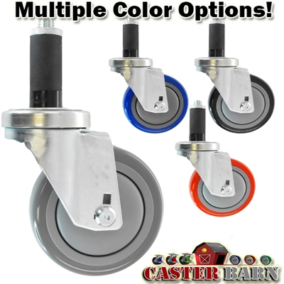 "4"" X 1-1/4"" Wheel, Expandable Adaptor Caster - 350 Lbs Capacity"