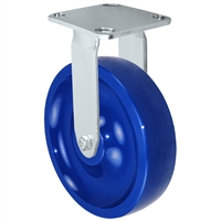 "8"" Stainless Rigid Caster - Solid Polyurethane Wheel"