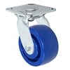 "6"" Stainless Swivel Caster - Solid Polyurethane Wheel"