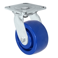"8"" Stainless Swivel Caster - Solid Polyurethane Wheel"