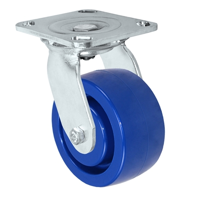 "4"" Stainless Swivel Caster - Solid Polyurethane Wheel"