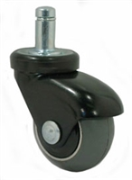 "2"" Gray Rubber - Black LUX Furniture Caster"