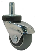 "2"" Gray Rubber - Chrome LUX Furniture Caster"